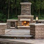 Belgard Brighton Fireplace by Comparing Outdoor Elements