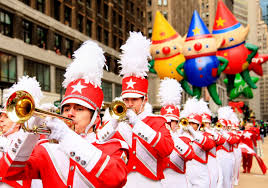 parade ribbon robotics team cutting ribbon at macy s thanksgiving day