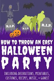 Halloween Party Decorations Uk How To Throw An Easy Halloween Party Crafty October Day 25 The
