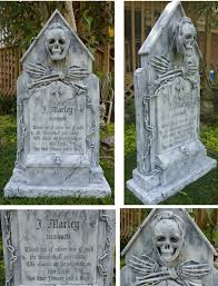jacob marley tombstone by michael skaggs halloween cemetery