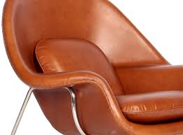 womb chair ottoman leather by eero saarinen collector replica