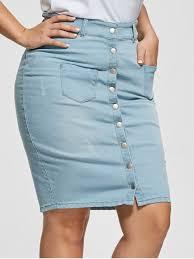 light wash denim skirt light wash button up bodycon denim skirt light blue plus size
