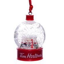 tim hortons snow globe ornament retrofestive ca