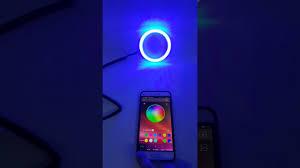 ring light effect app led angel eye rgb halo ring cob led bluetooth app youtube