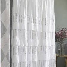 pintuck white shower curtain