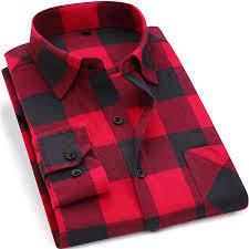 Soft Comfort Aliexpress Com Buy Men Flannel Plaid Shirt 100 Cotton 2017