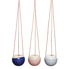 White And Pastel Hanging Ceramic Planter By Lilac Coast