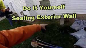 how to waterproof your exterior foundation wall diy for homeowners
