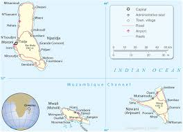 map comoros map of comoros islands travel africa