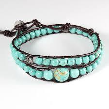 dragon wrap bracelet images 1pc new mix size turquoise stone bead double wrap bracelet jpg