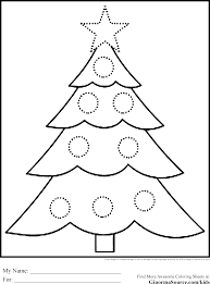christmas tree coloring page the sun flower pages