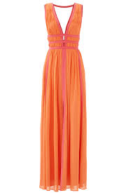 sunset pink gladiator gown by nicole miller for 99 rent the runway