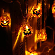 orange icicle lights halloween amazon com icicle battery powered pumpkin halloween string
