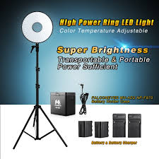 ring light for video camera falconeyes dvr 630dvc bi color led ring light video light kits