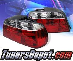 e38 euro tail lights sonar euro tail lights red clear 95 01 bmw 740il e38 alt yd be3895 rc