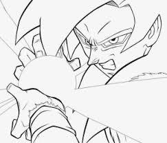imagenes de goku para dibujar faciles con color goku fase 4 para colorear