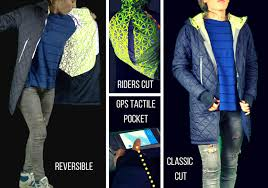 cycling jacket with lights urban circus lights up the night with technical hi vis reflective