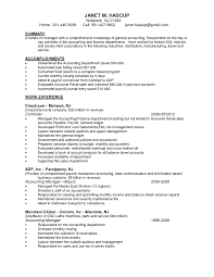 sample accounting manager resume accounting supervisor resume