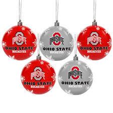 state buckeyes 5 pack shatterproof ornaments