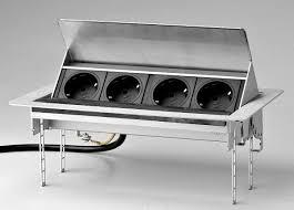 einbausteckdose küche versenkbare steckdosen einbausteckdosen küchenzubehör evoline