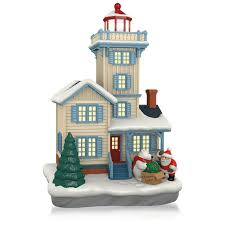 amazon com holiday victorian lighthouse ornament 2015 hallmark by