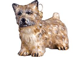 cairn terrier glass ornament by to the world