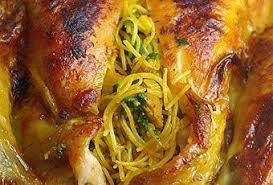 cuisine marocaine poulet farci poulet farci et cuit au four à voir