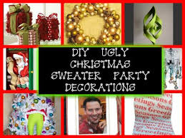 Ugly Christmas Sweater Decorations 8 Diy Decorations For An Ugly Christmas Sweater Party