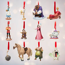 disney store and the beast deluxe sketchbook ornament set
