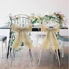 Diy Chair Sashes 2pcs Naturally Elegant Burlap Lace Chair Sashes Bands Bow Ties