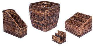Wicker Desk Accessories by Amazon Com Birdrock Home Hand Woven Seagrass Office Set Mail