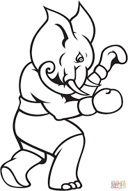 elephant boxing coloring page free printable coloring pages