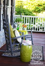front porch sitting creating a stylish outdoor space stonegable