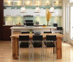 Rustic Kitchen Lights by Modern Rustic Kitchen Lighting With Wooden Table And Black Chairs
