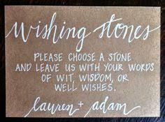 Wishing Rocks For Wedding Burlap Wishing Stones Sign Wedding Burlap Decor Guest Book