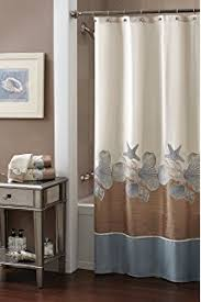 Seashell Curtains Bathroom Amazon Com Seashell Sea Shell Beach Shower Curtain Bathroom Decor