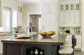 Kitchen Island Chopping Block White Island Dark Butcher Block Top Design Ideas