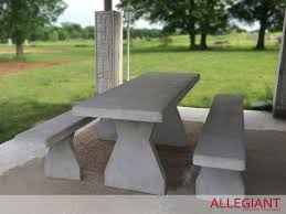Concrete Table And Benches Allegiant Precast Concrete Picnic Table With Benches