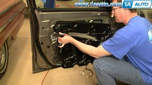 nissan rogue quarter panel how to install replace power window regulator or motor nissan