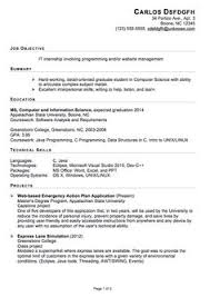 Sample Resumes For Internships by Format Of Resume For Job Application To Download Data Sample