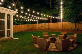 Backyard String Lighting Ideas Yard String Lights Backyard Outside For Lighting Ideas A