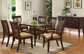 Glass Topped Dining Table And Chairs Rectangular Glass Top Dining Table Dining Table Design Ideas