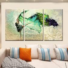 online get cheap dance art aliexpress com alibaba group drop shipping modular flower canvas painting home decor wall art canvas dancing girl wall picture