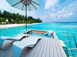 attractive maldives hammock over water fancy a private sundeck