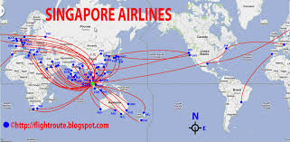 Fedex Delivery Routes Map by Singapore Airlines Routes Map Design Plane