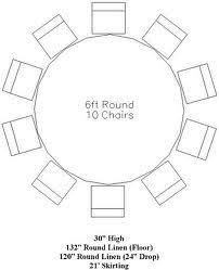 tablecloth for round table that seats 8 table linen size chart tables chart and linens