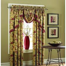 Extra Long Valance Carly Lace Curtain Panel With Attached Valance Tassels Curtains