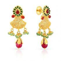 malabar earrings malabar gold ethnix earring collection jewellery designs