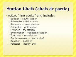 chef de cuisine definition kitchen brigade system ppt