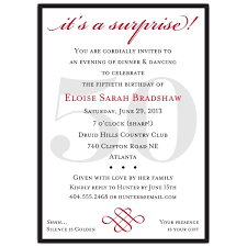 classic 50th birthday red surprise invitations paperstyle